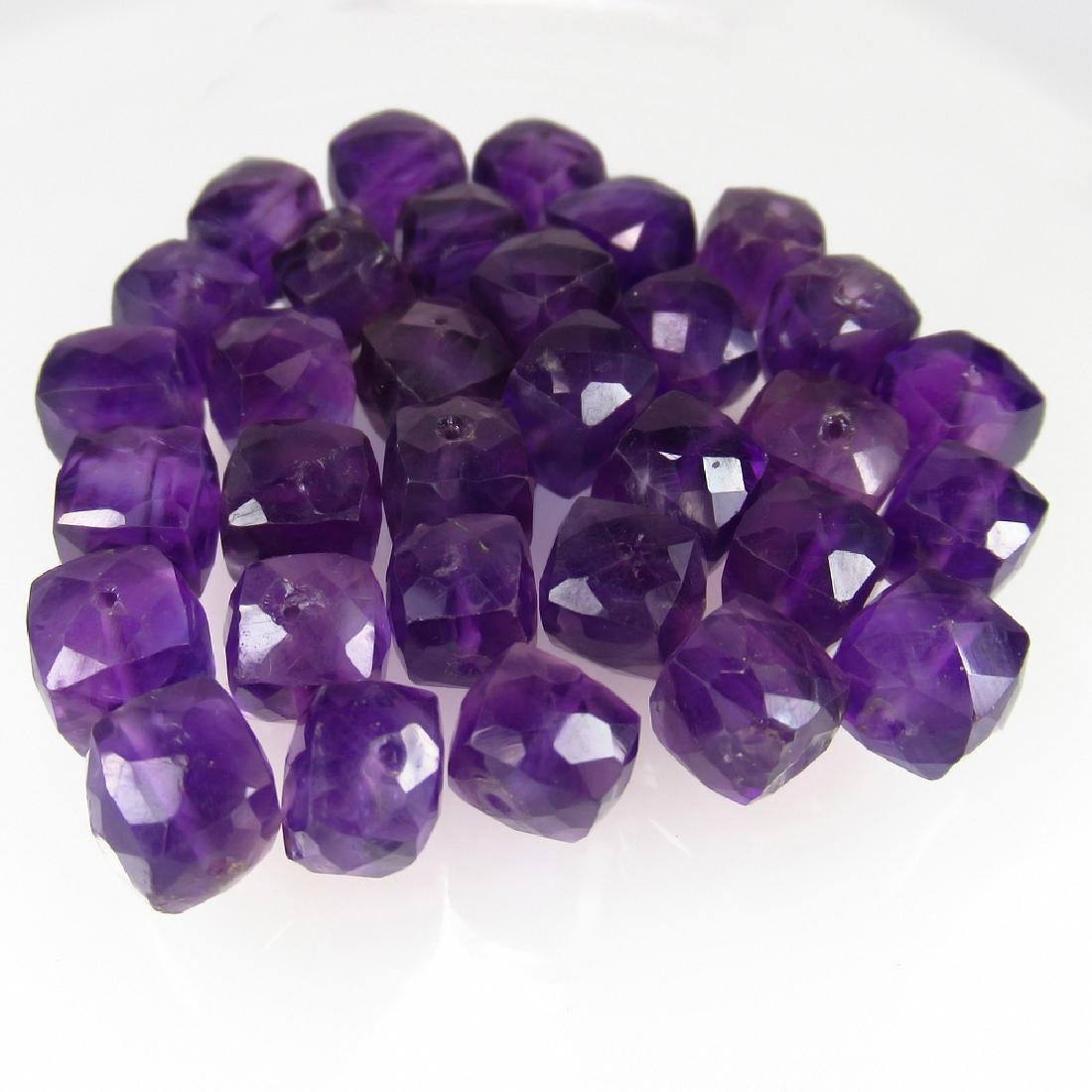 102.69 Ctw Natural Loose Amethyst Beads Necklace