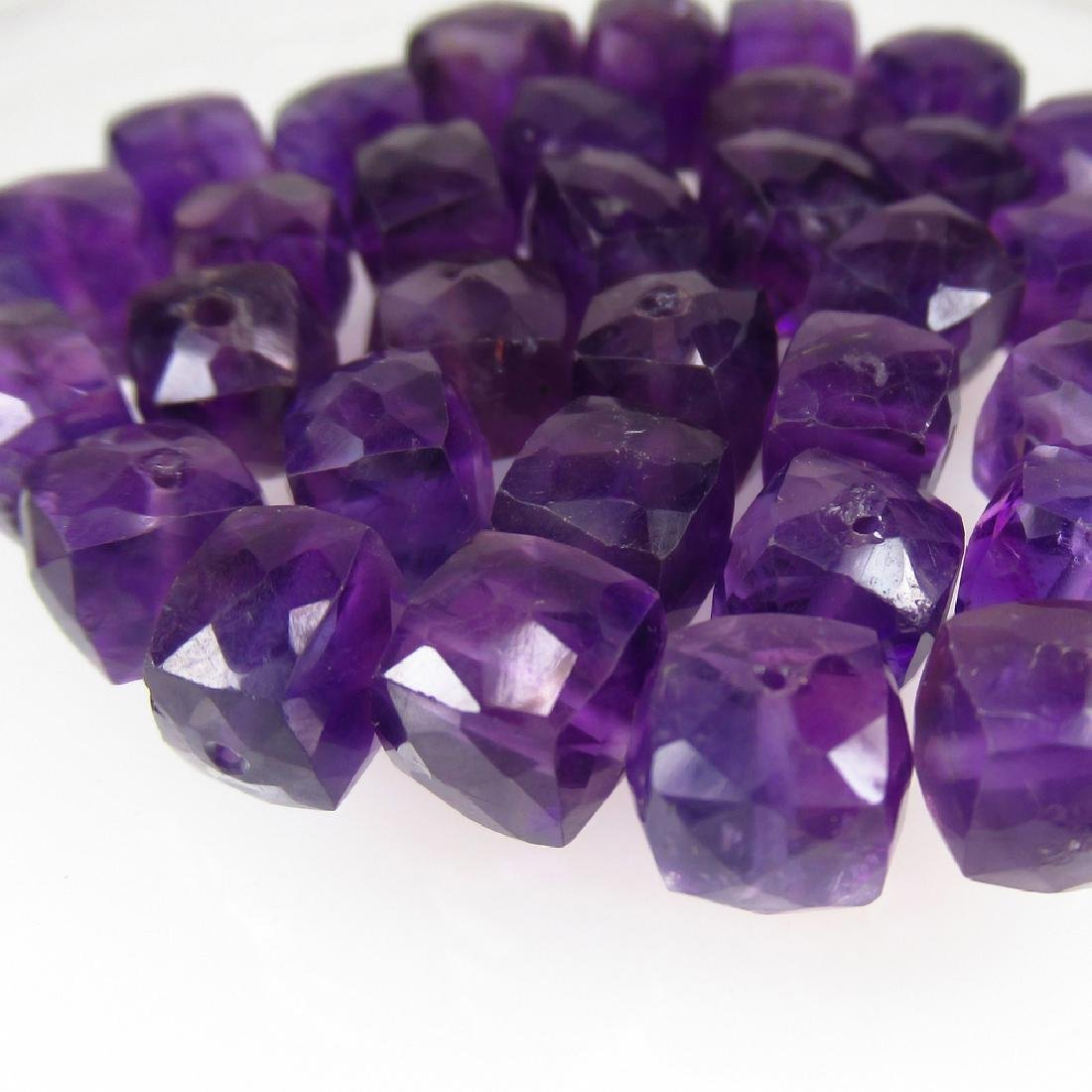 102.69 Ctw Natural Loose Amethyst Beads Necklace - 3
