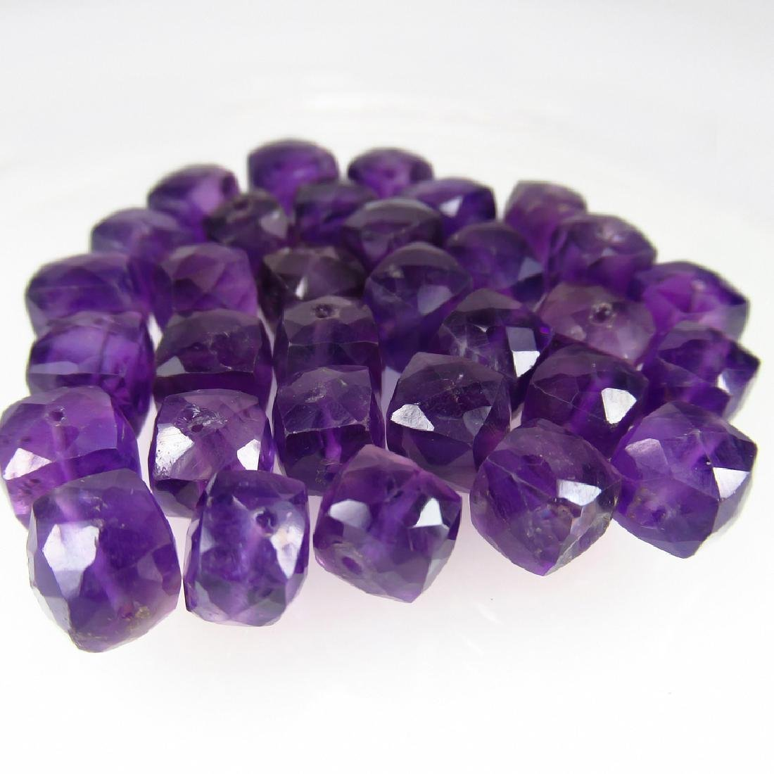 102.69 Ctw Natural Loose Amethyst Beads Necklace - 4
