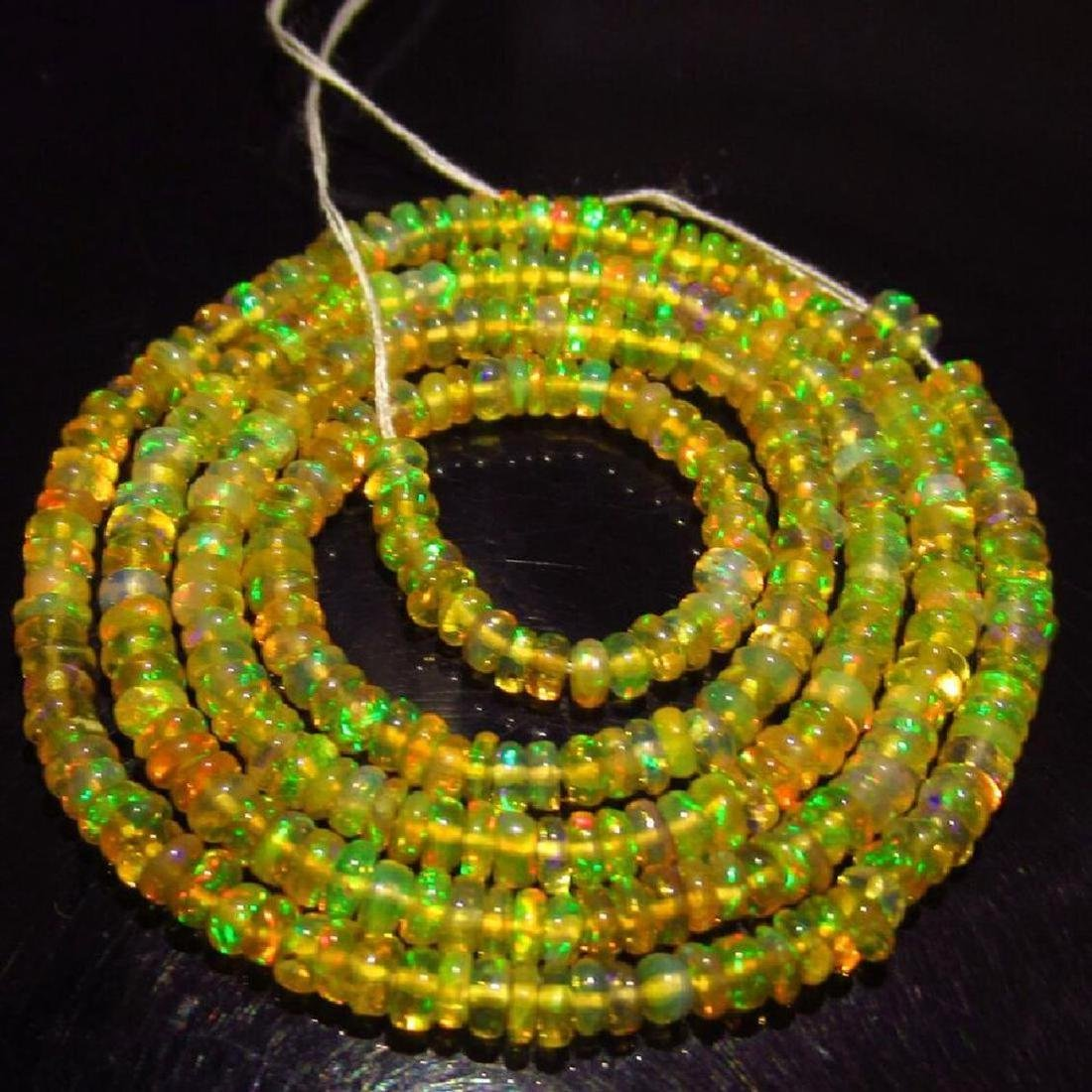 26.25 Ctw Natural Loose Drilled Fire Opal Beads