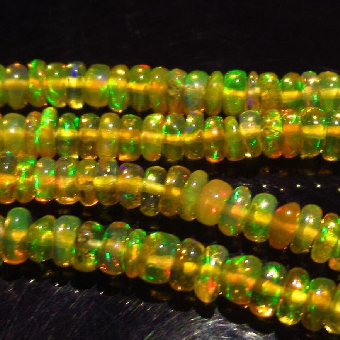 26.25 Ctw Natural Loose Drilled Fire Opal Beads - 2