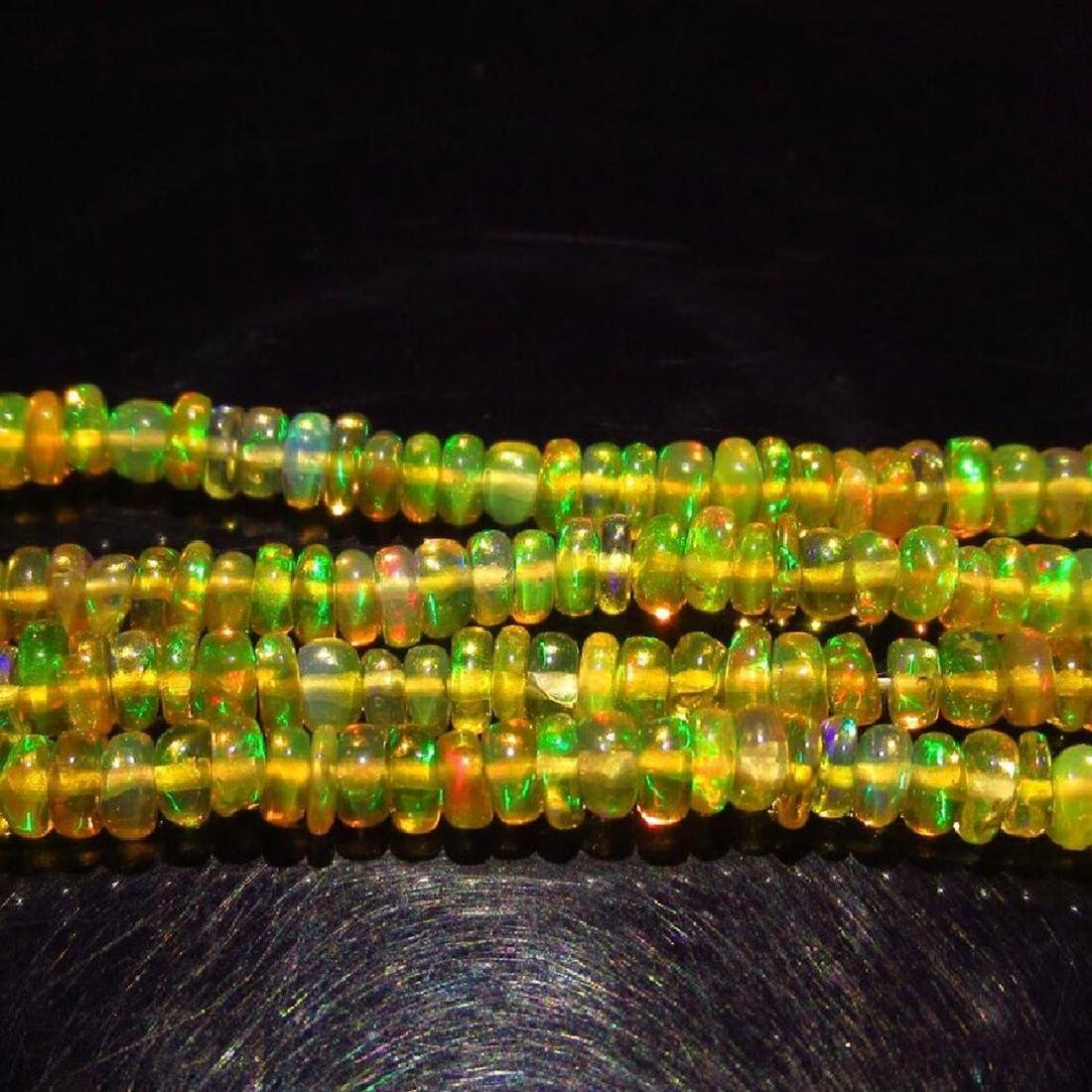 26.25 Ctw Natural Loose Drilled Fire Opal Beads - 3