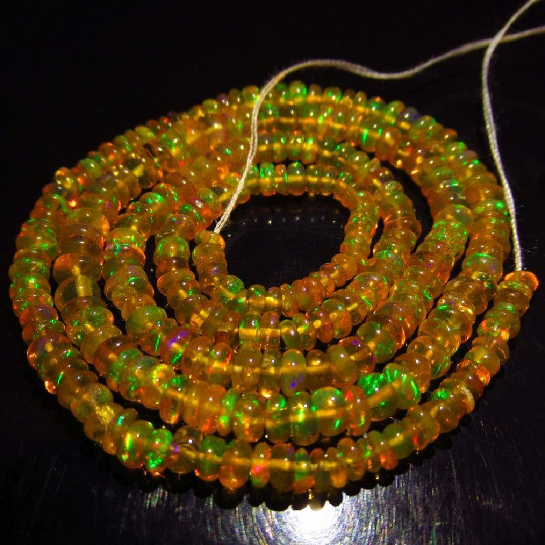 28.48 Ctw Natural Loose Drilled Honey Fire Opal Beads