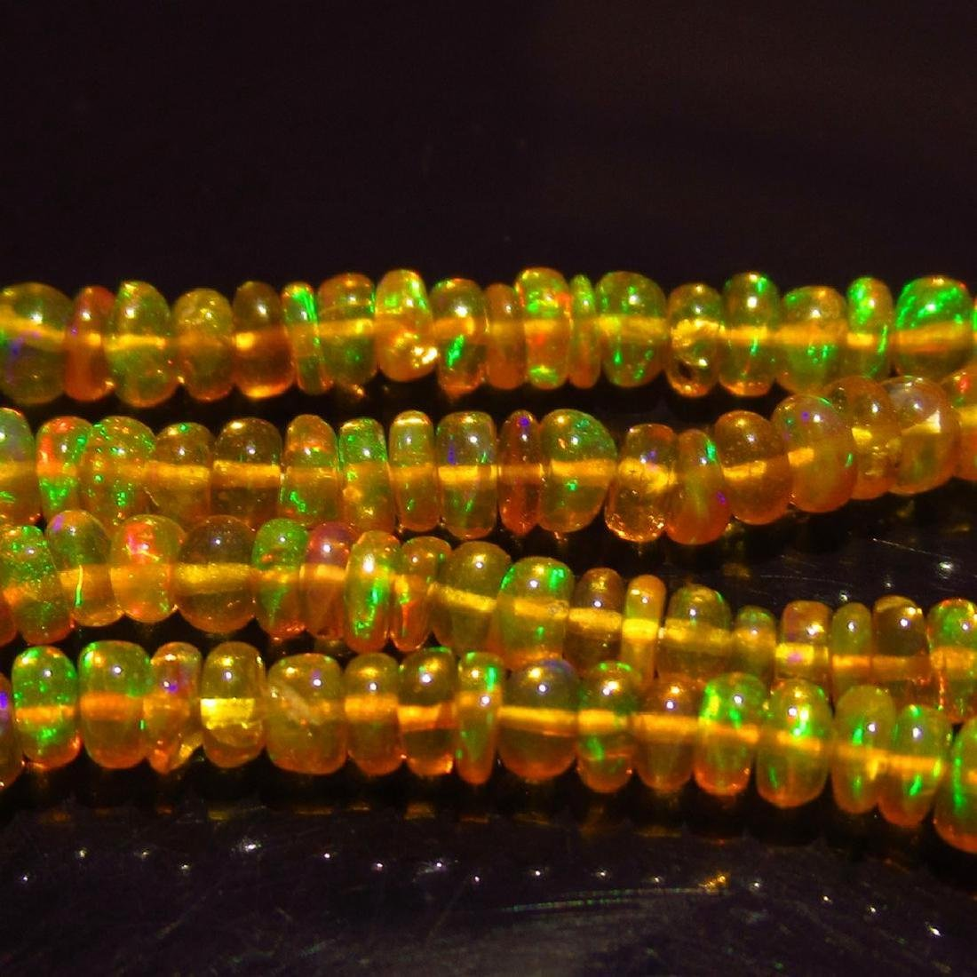 28.48 Ctw Natural Loose Drilled Honey Fire Opal Beads - 2