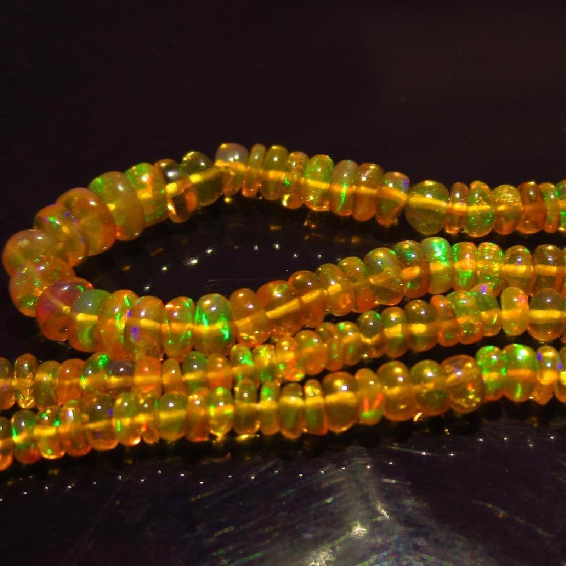 28.48 Ctw Natural Loose Drilled Honey Fire Opal Beads - 3