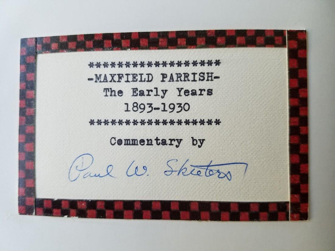Signed Letter & Label Maxfield Parrish The Early Years - 6