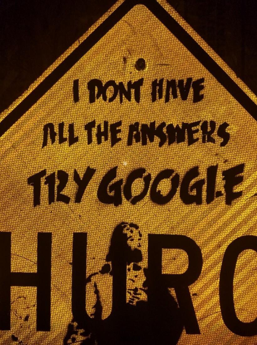 BANKSY street art, on CHURCH Sign Traffic, try google - 4