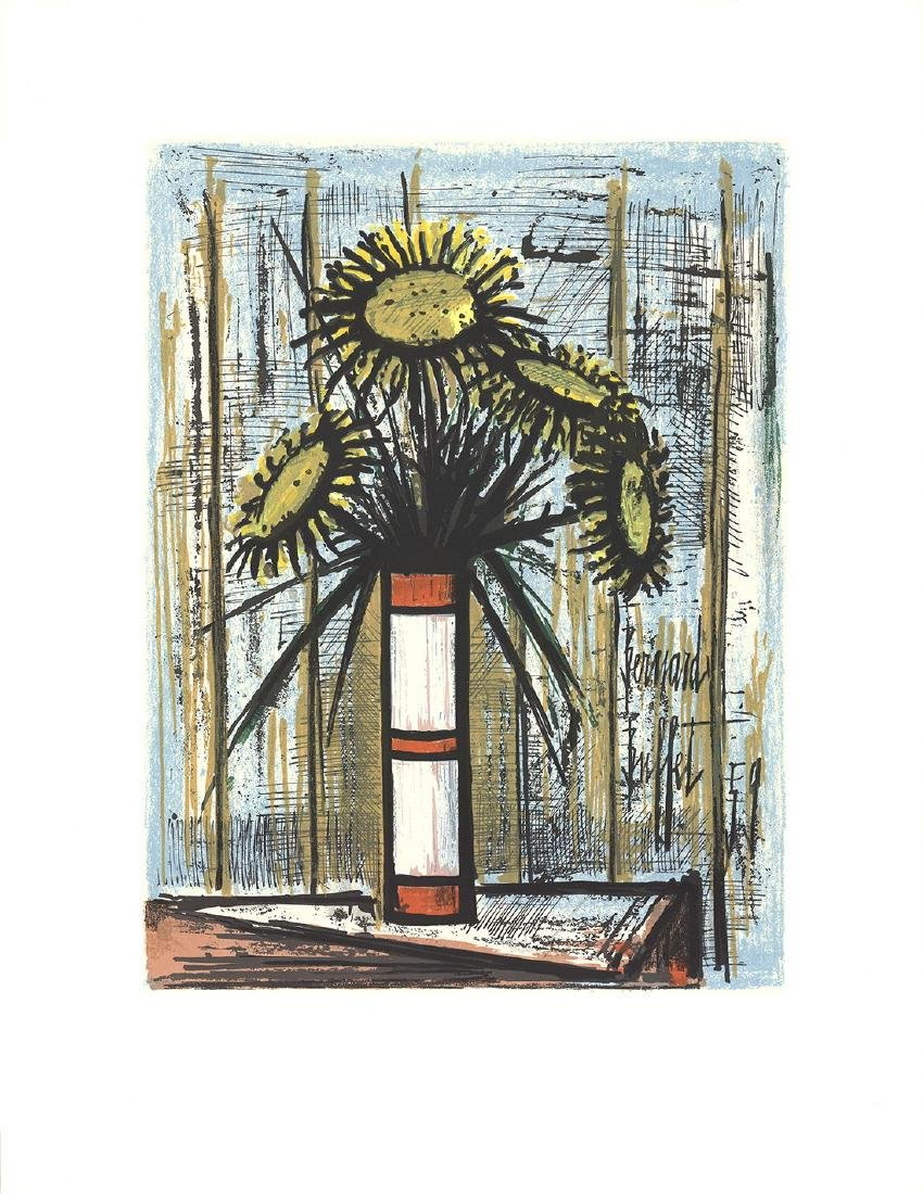 Bernard Buffet Serigraph Sunflowers
