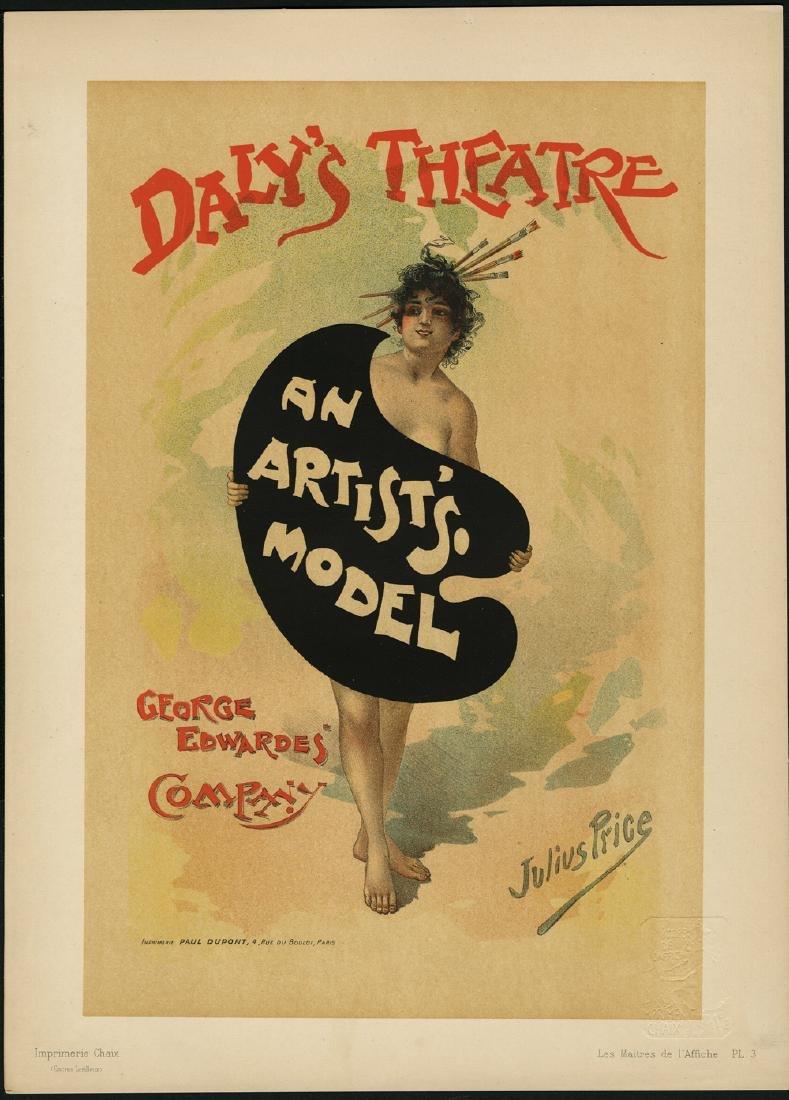 Original Julius Price Lithograph Maitres de L'Affiche 3