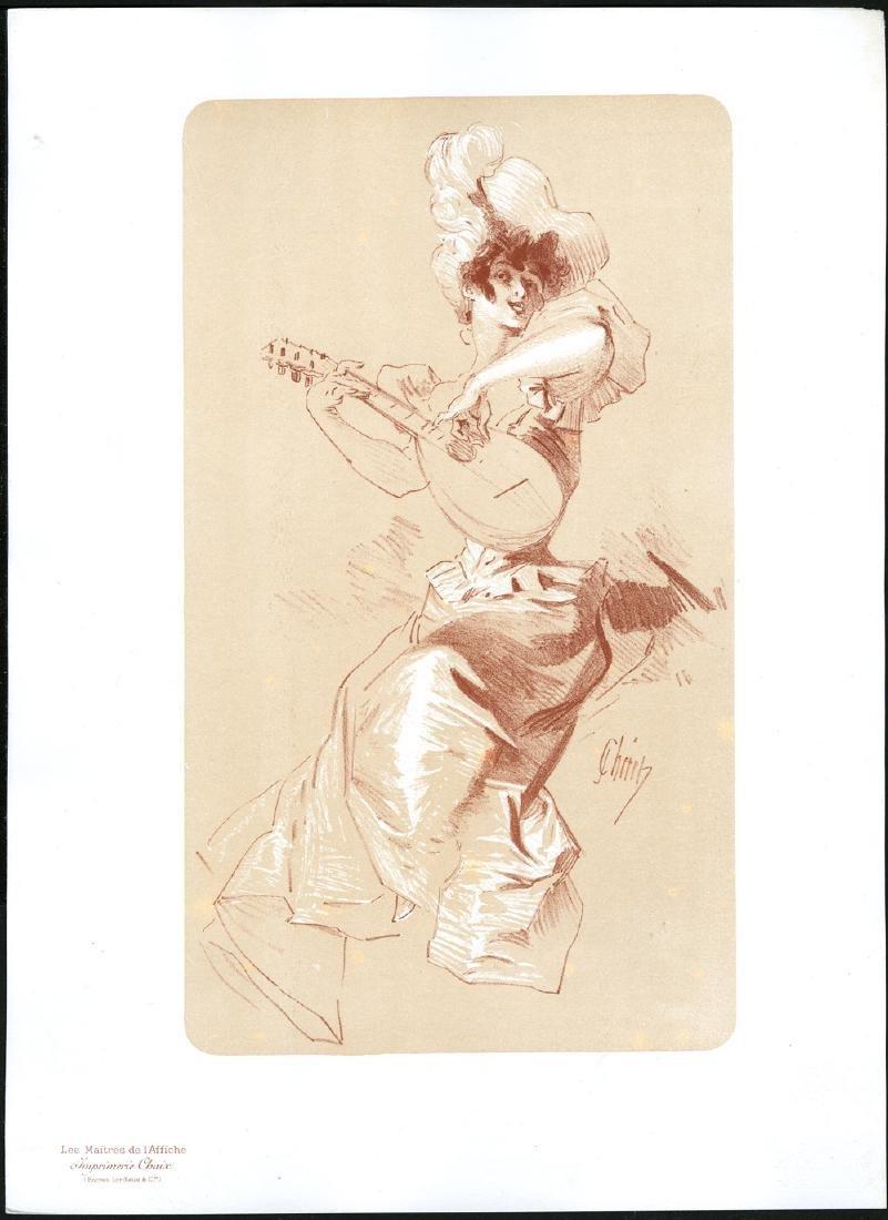 Original Cheret Lithograph Maitres de L'Affiche Bonus I