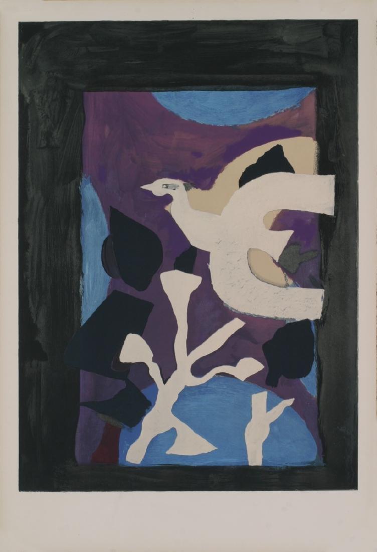 Georges Braque Lithograph Oiseau et Lotus
