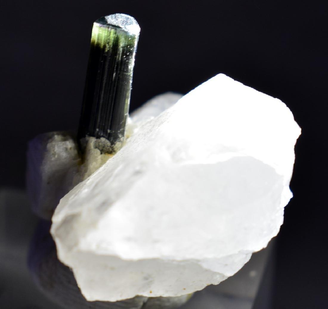 Green Cap Stiknala Tourmaline Specimen with Quartz - 2