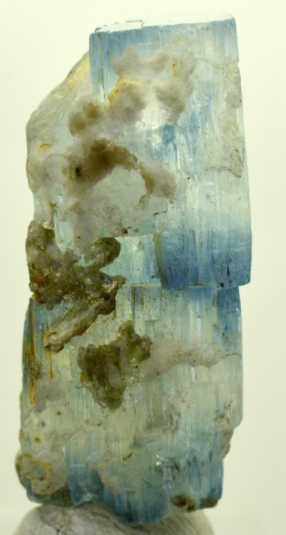 16 Grams Terminated Bio Color Aquamarine Crystal - 2