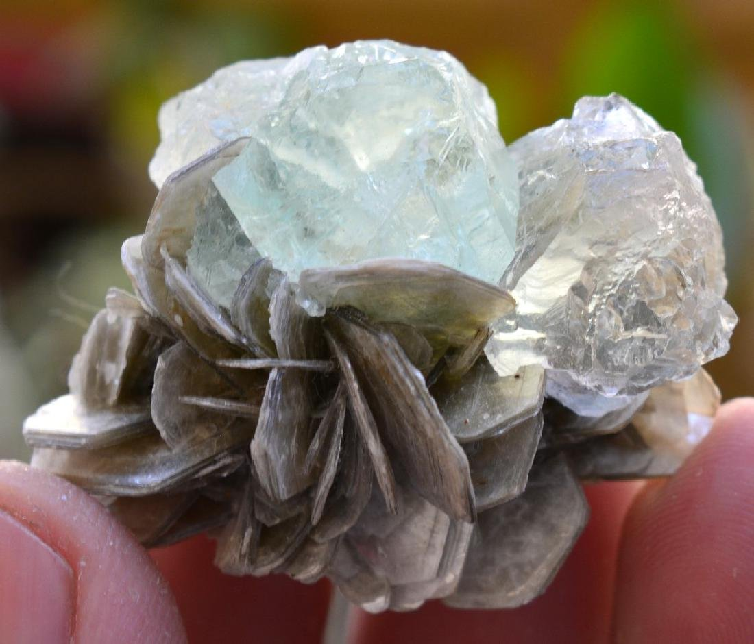 Natural Fluorite Specimen with mica