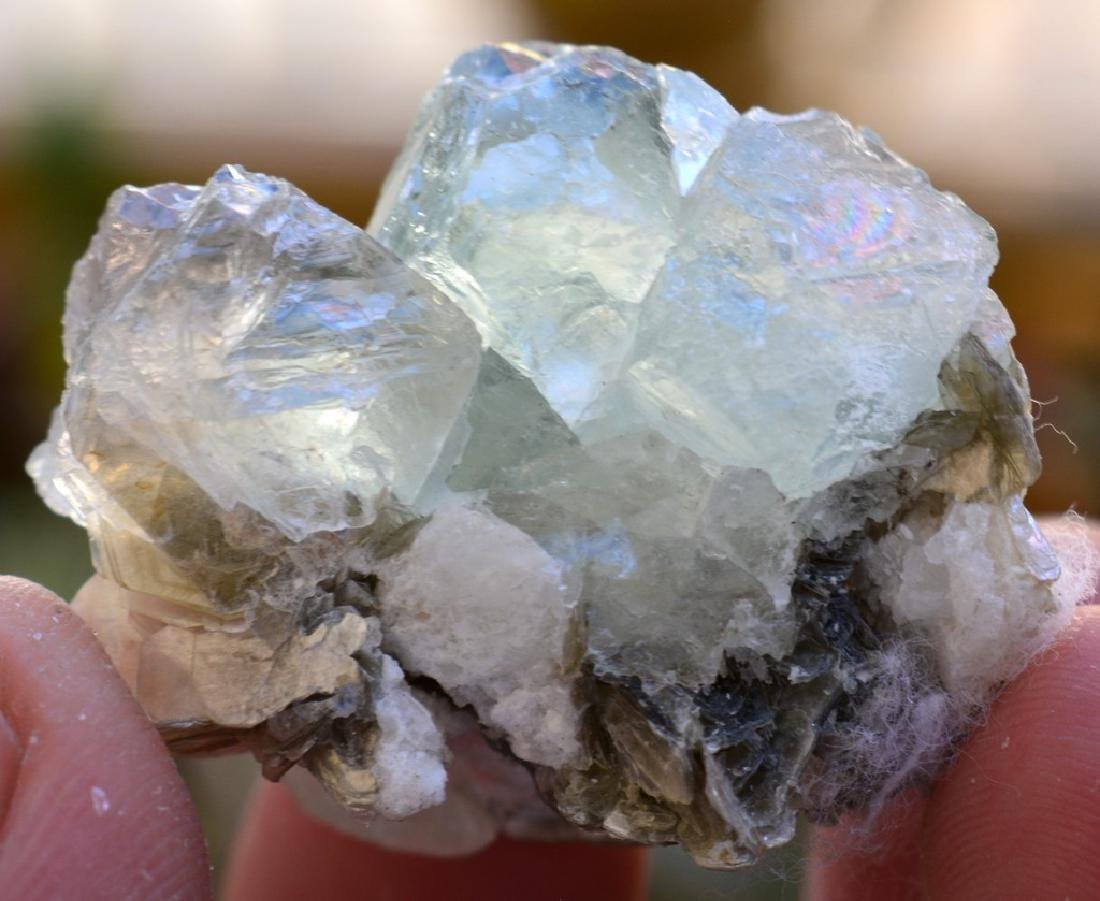 Natural Fluorite Specimen with mica - 4