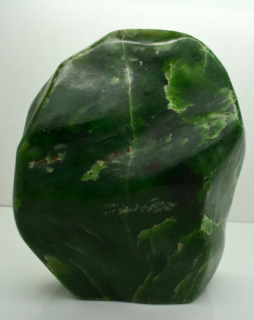 Emerald Green Translucent Nephrite Jade Tumble