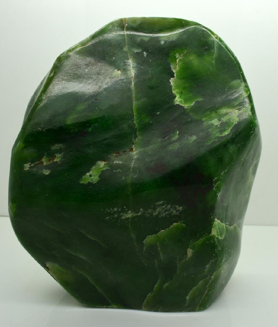 Emerald Green Translucent Nephrite Jade Tumble - 3