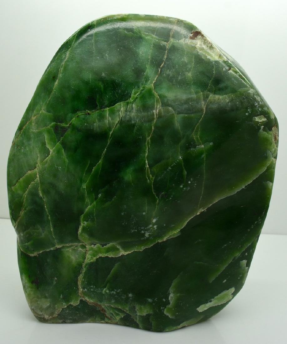 Emerald Green Translucent Nephrite Jade Tumble - 5
