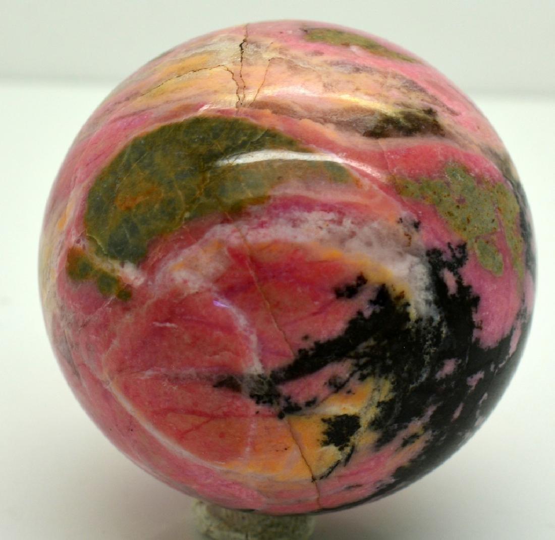 Natural Rhodonite Round Sphere - 2