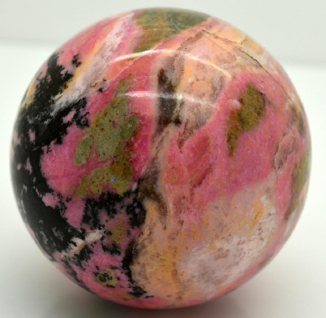 Natural Rhodonite Round Sphere - 4
