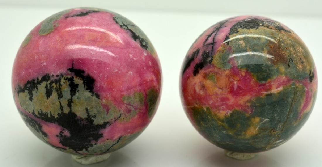 Natural Rhodonite Round Sphere Lot