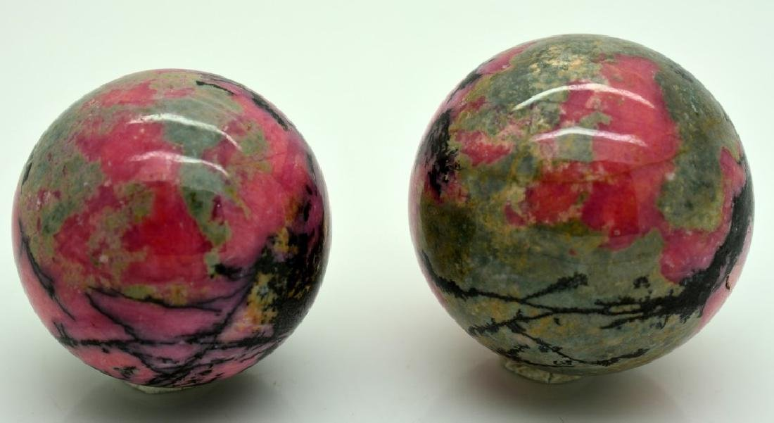 Natural Rhodonite Round Sphere Lot