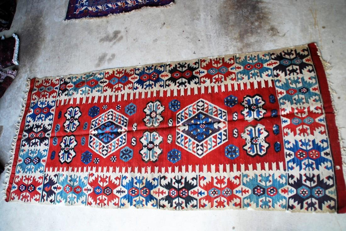 Antique Tunisian Kilim Rug 8x2.6