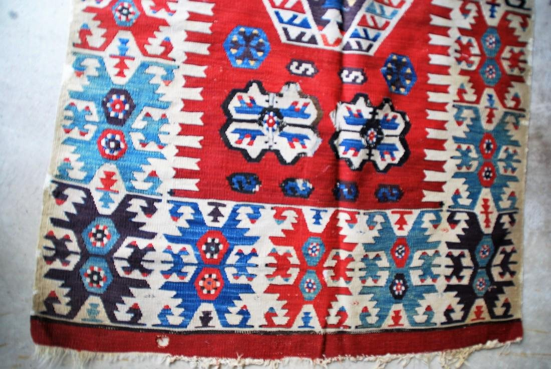 Antique Tunisian Kilim Rug 8x2.6 - 2