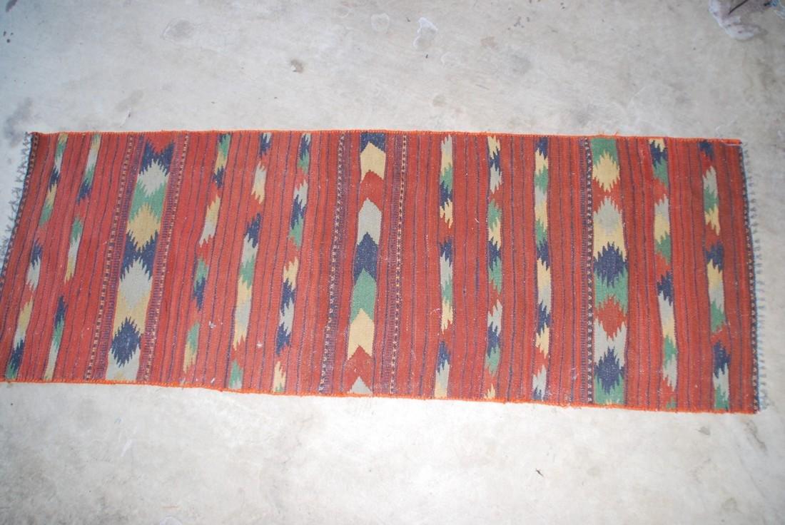 Antique Afghan Kilim Rug 6x2.3