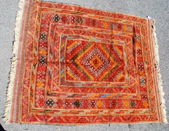 Early 20th Century Antique Herati Carpet Rug 5x3.10