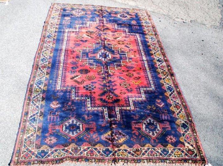 Tribal Afghan Carpet, Early 20th Century Rug 7.6x4.9