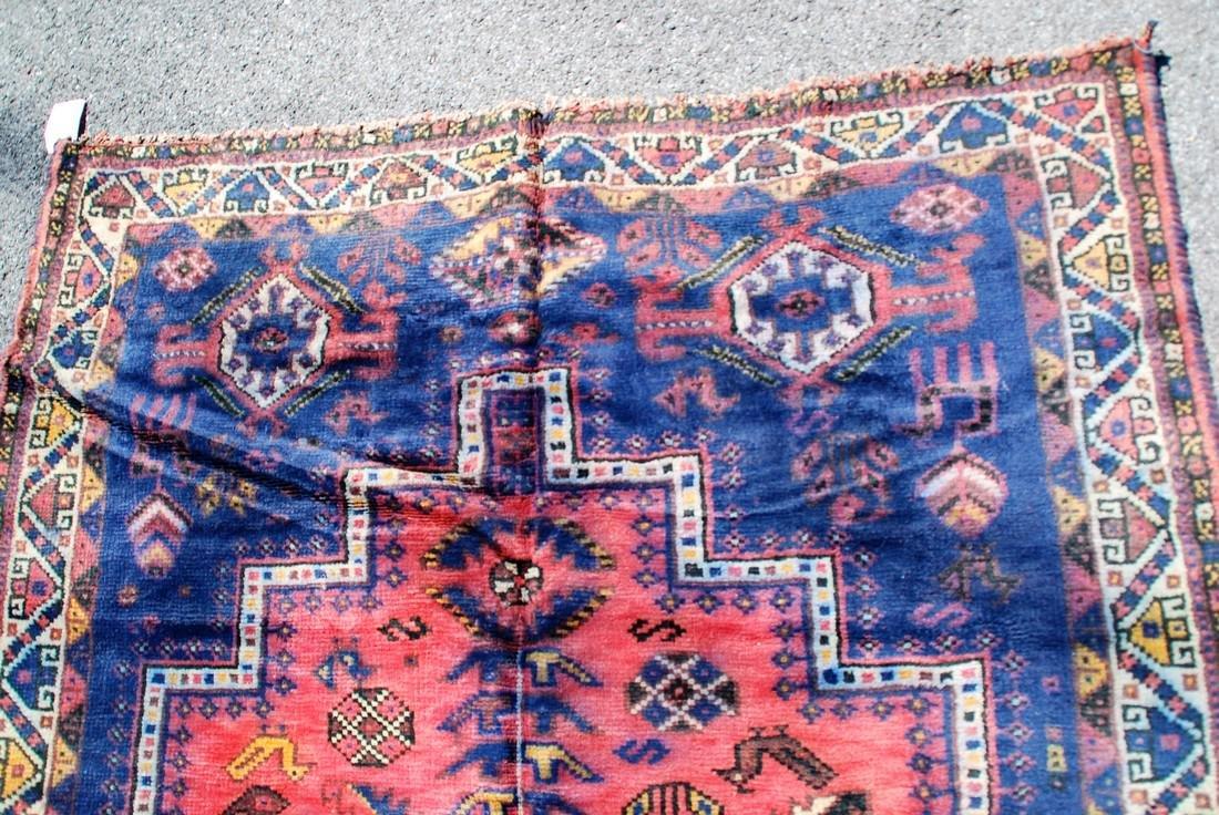 Tribal Afghan Carpet, Early 20th Century Rug 7.6x4.9 - 2
