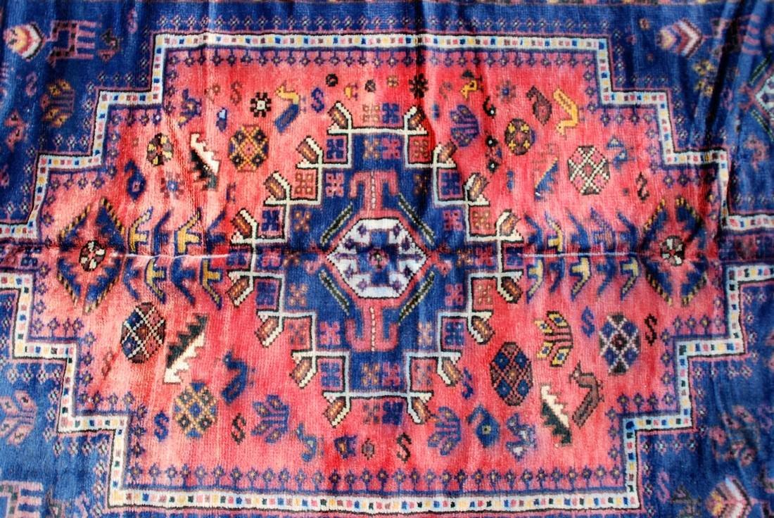 Tribal Afghan Carpet, Early 20th Century Rug 7.6x4.9 - 3