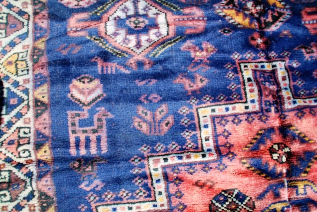 Tribal Afghan Carpet, Early 20th Century Rug 7.6x4.9 - 4