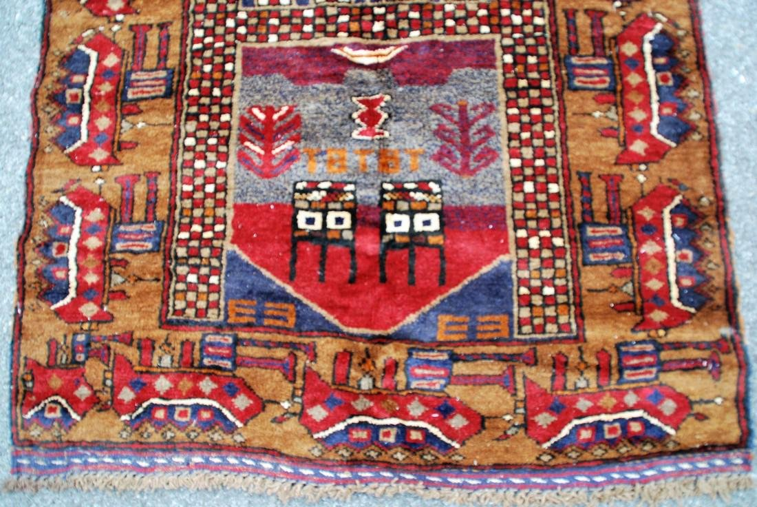 Tribal Afghan War Rug Soviet Era Rug 4.1x2.10 - 2