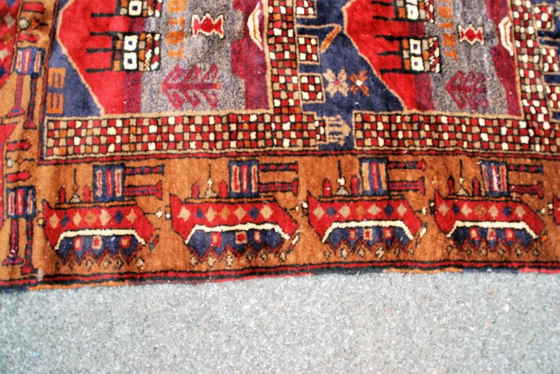 Tribal Afghan War Rug Soviet Era Rug 4.1x2.10 - 3