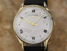 Longines Solid 14k Gold 1960s 32mm Swiss Made Vintage