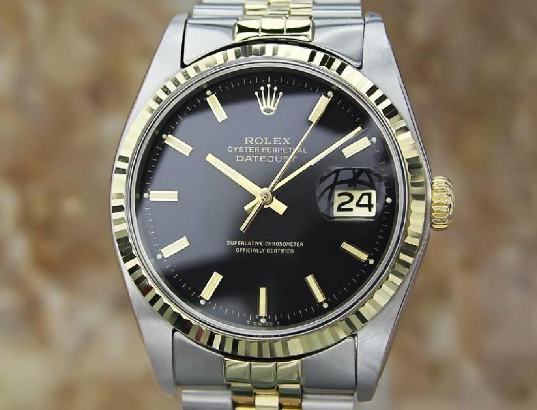 Rolex 1977 Mens 1601 Swiss Made Gold and Stainless