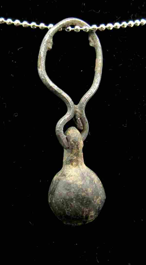 Medieval Viking Silver Acorn Pendant with Ring