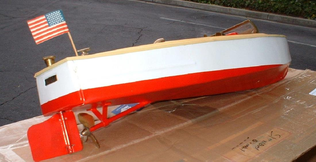 """Late 1950's 18"""" Lionel Craft Speedboat - 5"""