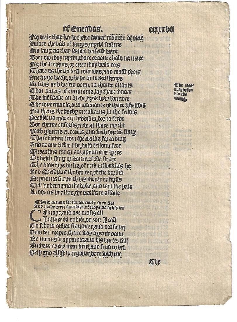 1553 English Leaf Virgil Aeneid Douglas Edition