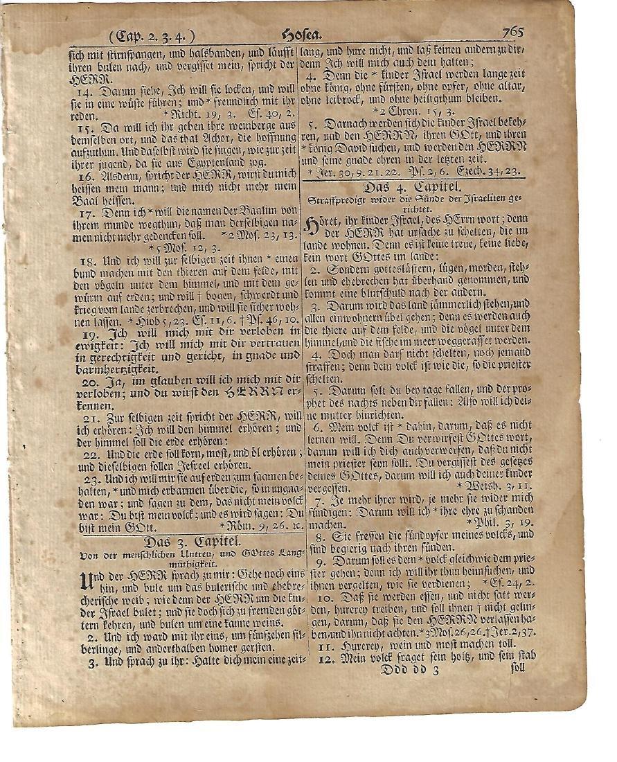 1776 Revolutionary War Bible Leaf Saur Germantown