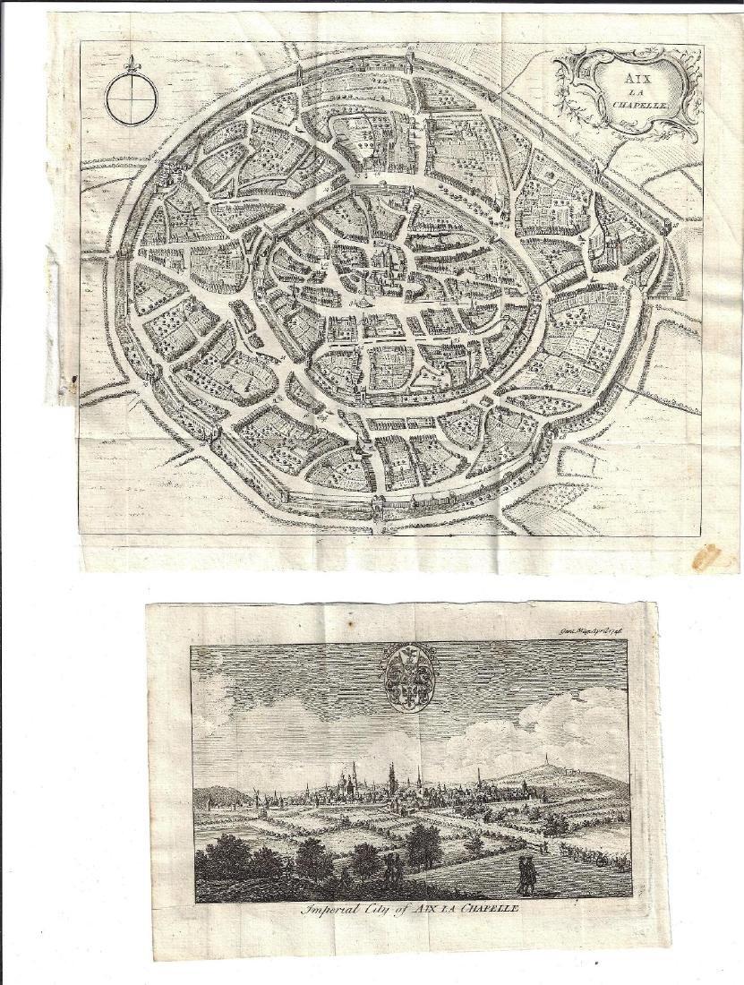 1748 Plan Aix La Chapelle and View