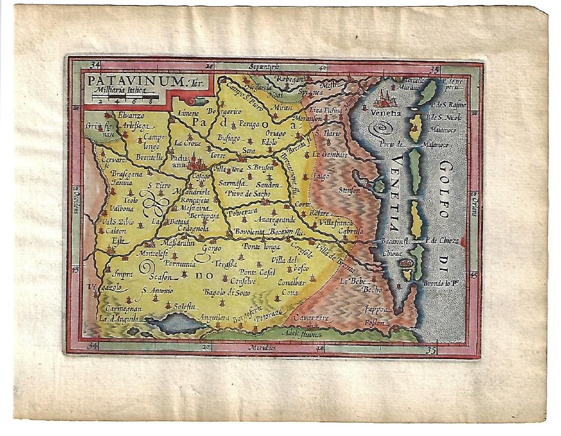 1620 Ortelius Hancolored Map Patavinum
