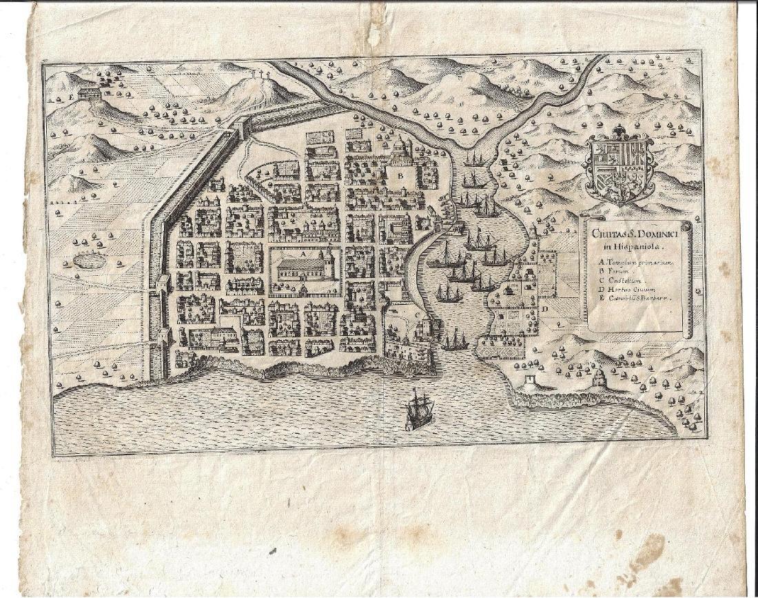 c1650 Engraving Civitas S. Dominici Hispanola