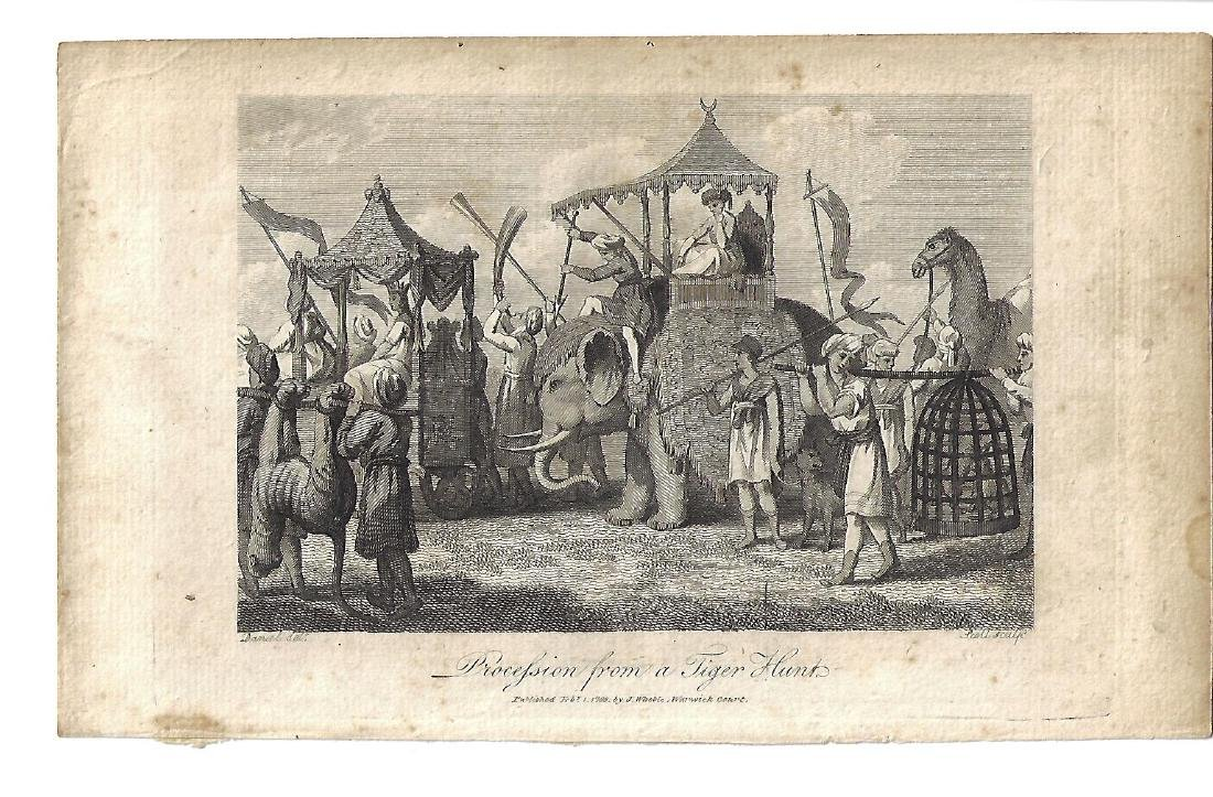 1799 Procession of a Tiger Hunt Engraving