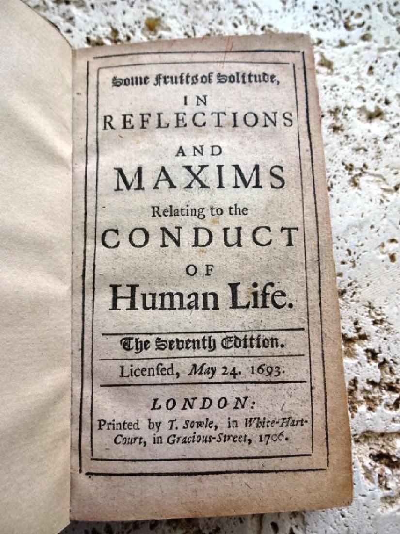 1706 William Penn Some Fruits of Solitude