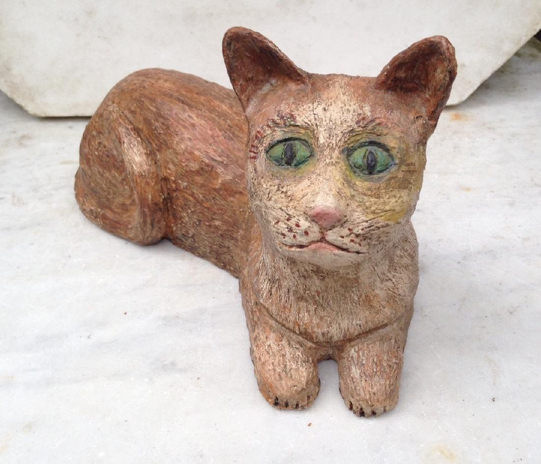 Terra Cotta Cat Sculpture 1950's