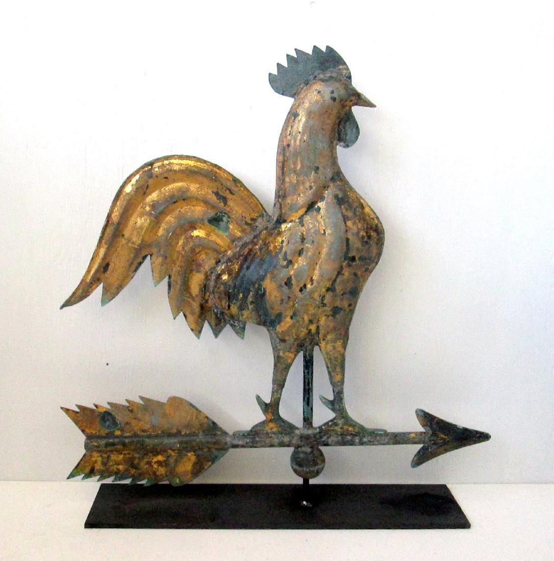 Excellent Early Rooster Weathervane