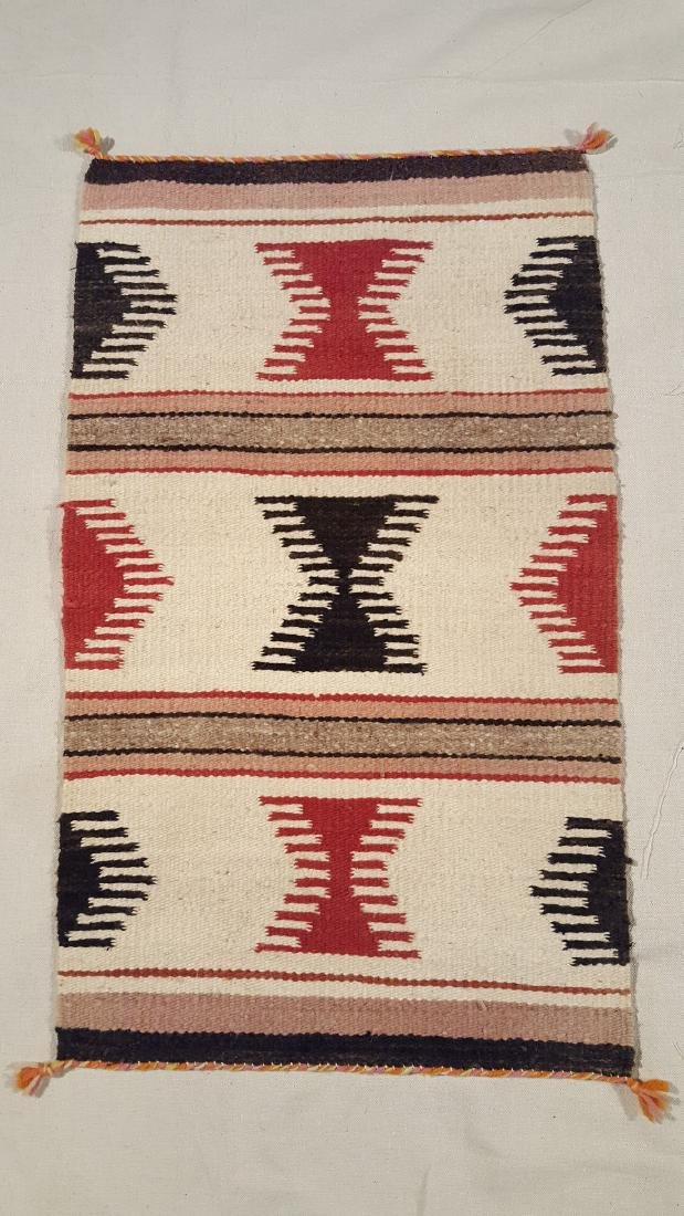 Navajo Ganado Throw With Comb Designs Ca 1930's